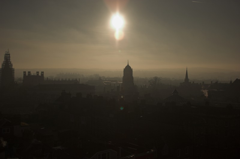 Sun over Christ Church - Click to go back